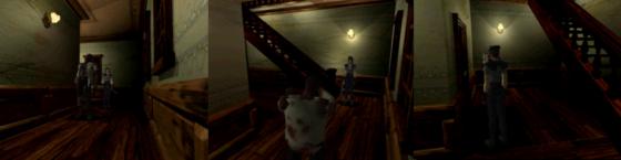 Ce couloir est un bon exemple de l'annihilation de la peur. Il conduit à une safe room et l'emplacement des trois zombies présents est facilement mémorisable et contournable. Il ne représentent absolument plus aucun danger.